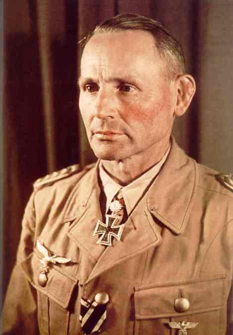 Hermann Bernhard Ramcke wearing tropical uniform.