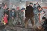 "Sad Scene This Georg Netzband painting from 1935, titled After the Air Attack, depicts Germans trapped in a bunker working together to get out. Though modern-day Germany has been rid of evil, a recently published study showed that 1 in 10 Germans said they would like a ""Führer"" figure to ""govern Germany with a hard hand."" The issue of immigration, as in so many other countries, remains a contentious topic: 35% said they thought Germany was ""dangerously overrun"" with foreigners."