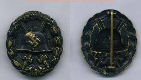 Wound Badge – 1939 version in black.