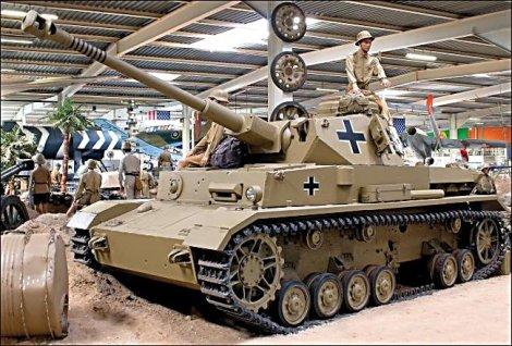 German Panzer IV tank, Auto and Technik Museum in Sinsheim, Germany. It has been restored in the German Afrika Korps desert camouflage of 1941.