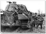 Tiger 2 being inspected by Soviet soldiers March 13,1944.