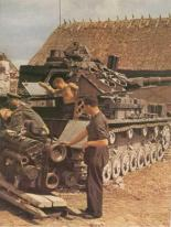 Panzer IV Ausf.E (single side door on turret) upgunned with a KWK 40 long barrel. The Werkstat is preparing to install a different Maybach HL 120 TRM engine.