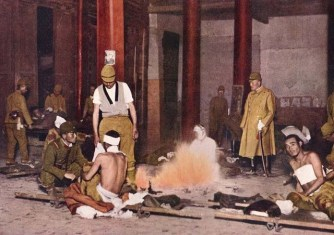 Japanese army improvised hospital, Peking 1937.