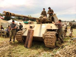 Panther at the 2014 War and Peace Revival Event - England.