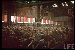 Weitzinger Factory at Graz during Hilter's Austrian election campaign, April 1938