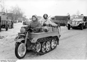 Kettenkrad winter 1943/44 in Russia.