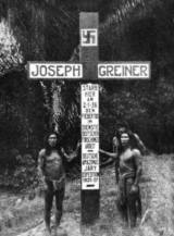 The inscription on the cross says: Joseph Greiner. Died here on 02/01/36. In Research Service of the German Studies of Jary-Amazon. Expedition: 1935-37.