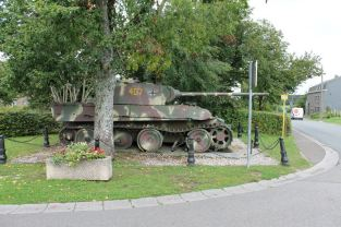 Panther at the Grandmenil Crossroads, Belgium.