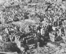 Aerial view of city of Warsaw, January 1945.