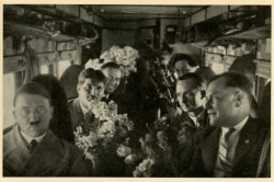 Germany Awakes. Group #32. Picture #98: The Führer in an airplane on his birthday, 1932.