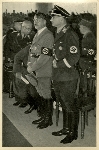 Germany Awakes. Group #32. Picture #213: The Führer and his deputy Rudolf Hess during the Party Convention in Nuremberg, 1933.