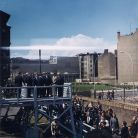 US President John F. Kennedy visiting the Berlin Wall on 26 June, 1963.