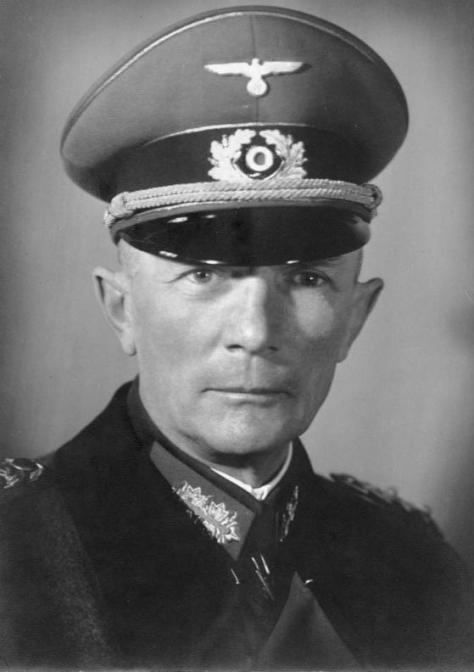 Field Marshal Fedor von Bock wearing the Schirmmütze.