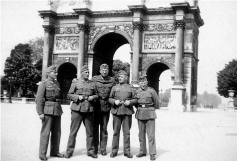 Germans in Paris, 1940.
