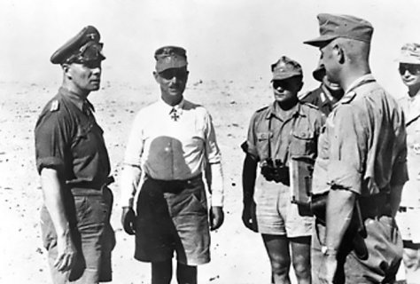 Erwin Rommel and officers, 1942.