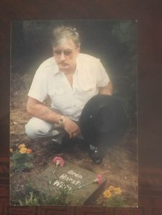 Garret Reinhard Witte's father visiting his brothers grave.
