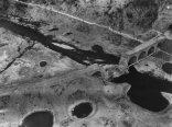 Aerial view of Arnsberg destroyed viaduct Hustener Strasse, March 1945.