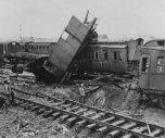 Bombed railroad yard near Köln.