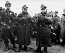 Young soldiers captured by 6th Armored Division,1945.