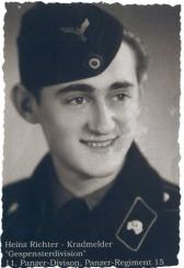 Heinz Richter of the 11th Panzer Division. This photos is labeled wrong for they call the 11th the Gespenster outfit, which was actually the 7th Panzer Division.