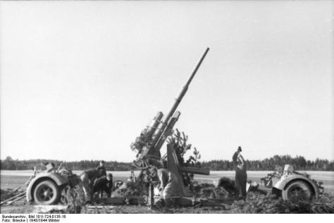 Flak-Stellung in Russland