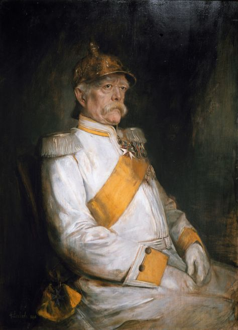 Franz von Lenbach's portrait of Bismarck in his 75th year.