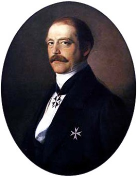 Otto von Bismarck as Minister President of Prussia, shown wearing insignia of a knight of the Johanniterorden.