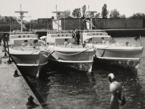 The speedboats of Herring class in Kiel. They come from BGS-held and were taken over in 1956 by the German army.