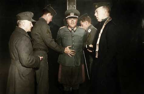 German-General-Anton-Dostler-is-tied-to-a-stake-before-his-execution-by-a-firing-squad-Italy-1945