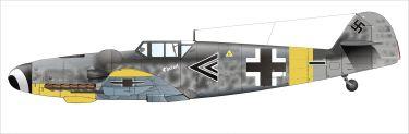 Gerhard Barkhorn's Messerschmitt Bf 109 G-6 of Stab II./JG 52, November 1943.