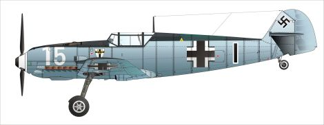 Bf 109 E-3 flown by the original I./JG 1 in France 1940.