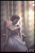 "German actress Hannelore Schroth posed in a chair in the Reich Chancellery (Reichskanzlei) during an artists reception for the 4th ""Große Deutsche Kunstausstellung"" (Great German Art Exhibition), Berlin, 27 July 1940."