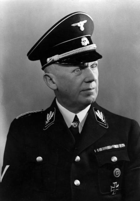 SS-Gruppenführer Hans Heinrich Lammers in black Allgemeine-SS uniform 1938.