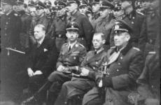 Minister President Vidkun Quisling , Reichsführer of SS Heinrich Himmler , Reichskommissar for Norway Josef Terboven, General Commander Nikolaus von Falkenhorst and Officers of Waffen-SS , Deutsches Heer and Deutsche Luftwaffe in 1941.