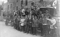 Essen division of Sturmabteilung (SA), the German National Socialist Party, NSDAP's paramilitary streets, in 1926 .