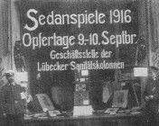 The exhibited trophies of Sedan Festival, Lübeck.