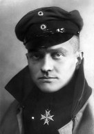 "Richthofen wears the Pour le Mérite, the ""Blue Max"", Prussia's highest military order, in this official portrait, c. 1917."
