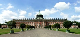 View of the New Palace from the gardens.