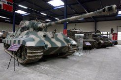 A Tiger II mounting an 8.8 cm KwK 43 gun, preserved at the Musée des Blindés.