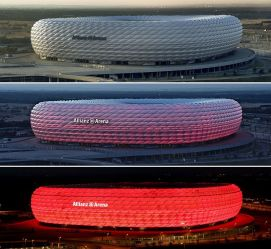 Allianz Arena, the home stadium of Bayern Munich and 1860 Munich.