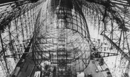 Hindenburg under construction.
