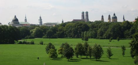 View from the Englischer Garten.