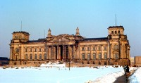 Reichstag building in 1970, before reconstruction of the dome.