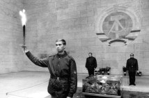 A prismatically broken eternal flame in the Memorial to the Victims of Fascism and Militarism, 1970 at Neue Wache building Berlin.