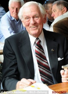 Reinhard Hardegen, 99, was one of the most successful commanders during Operation Drumbeat, when Nazi submarines attacked merchant ships along the east coast of North America. Picture from 2012.