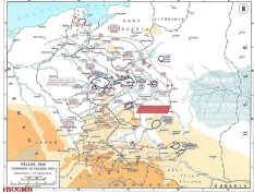 Map showing the advance made by the Germans, and the disposition of all troops from 1 to 14 September.