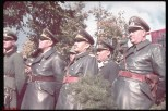 R to L: Adjutant Wilhelm Bruechner, General Galland, General Kesselring and General Blaskowitz viewing the victory parade in Warsaw after the German invasion of Poland.
