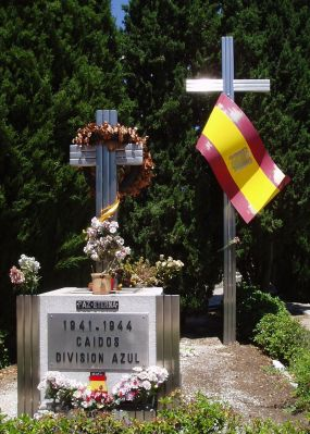 Vault of the Blue Division, in La Almudena cemetery, Madrid.