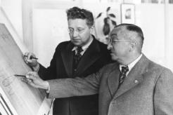 Ernst Heinkel (right) with Siegfried Günter.