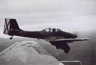Condor Legion's Junkers Ju 87A with Spanish rebel markings.